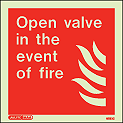 6283C - Jalite Open Valve in the Event of Fire Sign