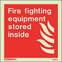 6284C - Jalite Fire Fighting Equipment Stored Inside Sign