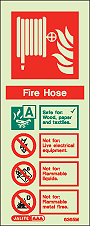 6365M - Jalite Fire Hose Identification Signs