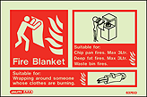 6376ID - Jalite Fire Blanket Sign