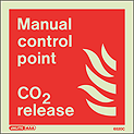 6520C - Jalite Manual Control Point CO2 Release Sign