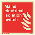 6598C - Jalite Mains Electrical Isolation Switch Sign
