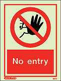 8001D - Jalite No Entry Sign