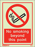 8025D - Jalite No Smoking Beyond This Point Sign