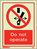 8056D - Jalite Do not operate Sign