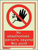 8064D - Jalite No Unauthorised Persons Beyond This Point Sign